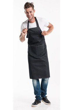 Bib Apron Black Denim